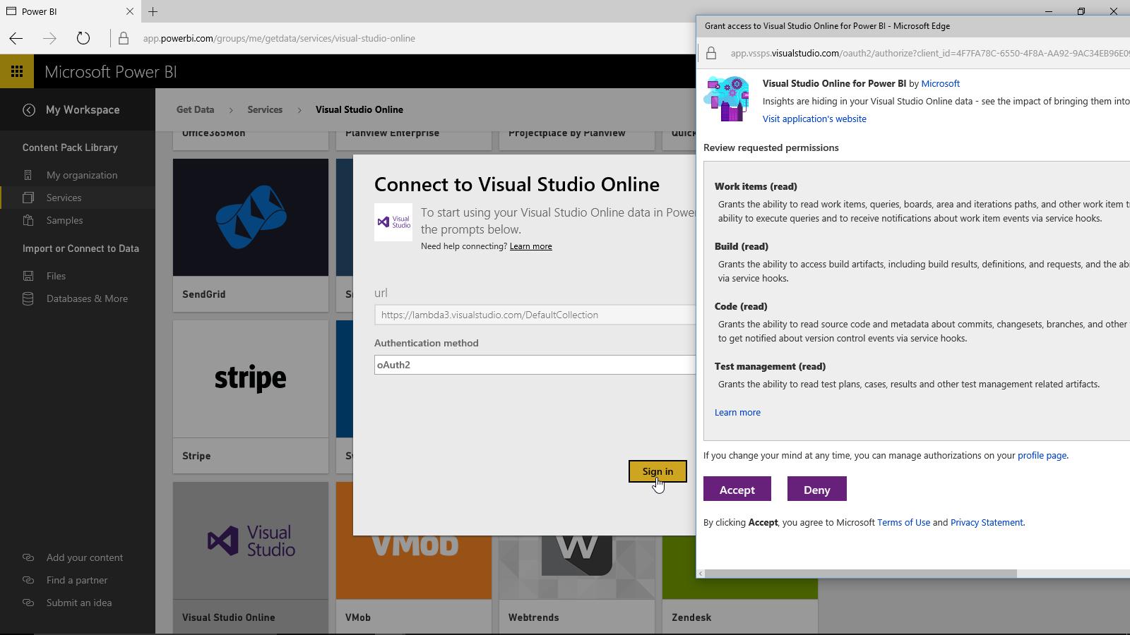 Visual Studio Connection 2