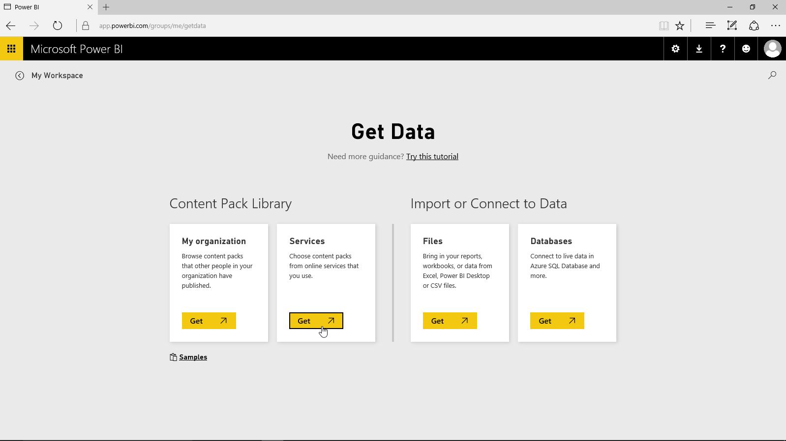 Power BI - Get Data